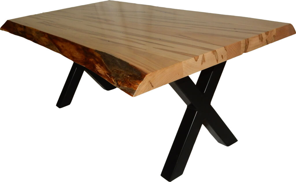 Wormy Maple Live Edge Coffee Table
